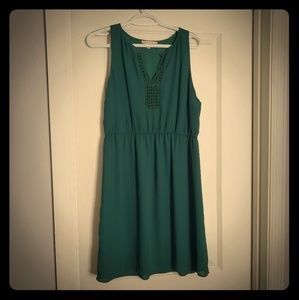 Emerald Green Polyester Dress